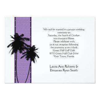 Recepción de la lavanda de las palmeras solamente invitación 13,9 x 19,0 cm