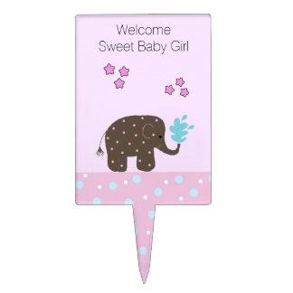 Recepción de la niña del elefante figura de tarta