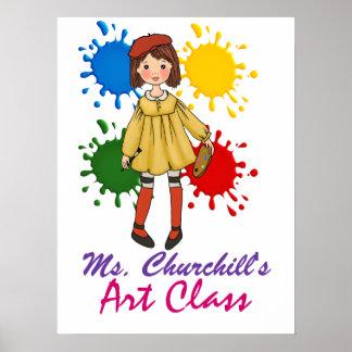 Recepción de la sala de clase del profesor de arte poster