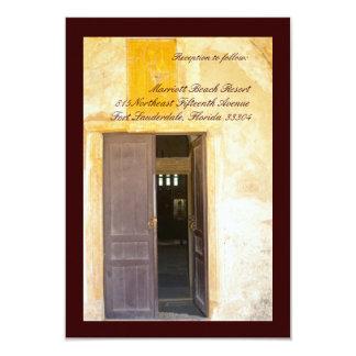"""Recepción de las puertas de la iglesia invitación 3.5"""" x 5"""""""