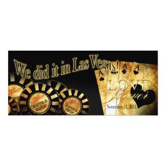 Recepción de Las Vegas (éntreme en contacto con Invitación 10,1 X 23,5 Cm