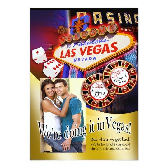 """Recepción de Las Vegas (éntreme en contacto con Invitación 5"""" X 7"""""""