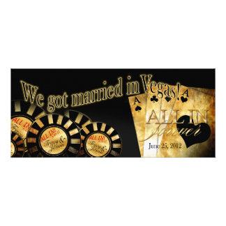 Recepción de Las Vegas (éntreme en contacto con pa Invitaciones Personalizada