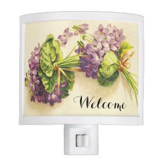 Recepción de las violetas del Victorian Lámpara De Noche