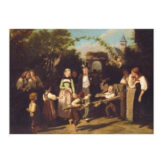 Recepción de los pares del boda de Theodor Schuz Lienzo Envuelto Para Galerias