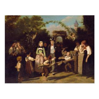 Recepción de los pares del boda de Theodor Schuz Postal