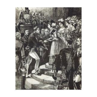 Recepción de Louis Felipe en el castillo de Windso Impresión De Lienzo
