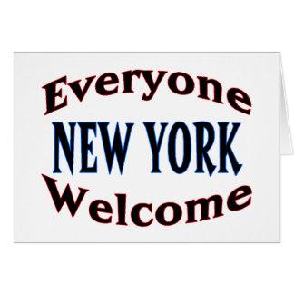 Recepción de Nueva York Tarjeta De Felicitación