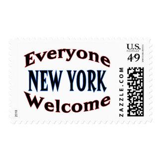 Recepción de Nueva York Timbre Postal