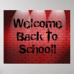 ¡Recepción de nuevo a escuela! Muestra de la impre
