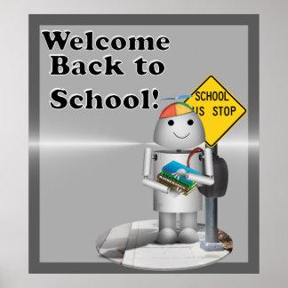 ¡Recepción de nuevo a escuela! Póster