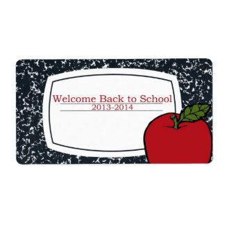 Recepción de nuevo a etiquetas de la escuela etiquetas de envío