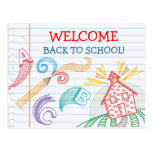 Recepción de nuevo a la postal de la escuela
