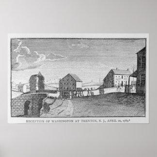 Recepción de Washington en Trenton, New Jersey Póster