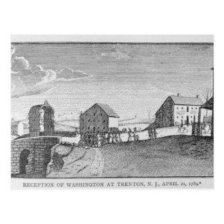 Recepción de Washington en Trenton, New Jersey Postal