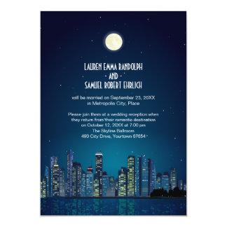 Recepción del horizonte de la ciudad solamente invitación 12,7 x 17,8 cm