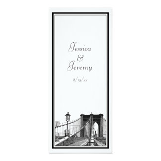 Recepción del menú del puente de Brooklyn del Invitación 10,1 X 23,5 Cm