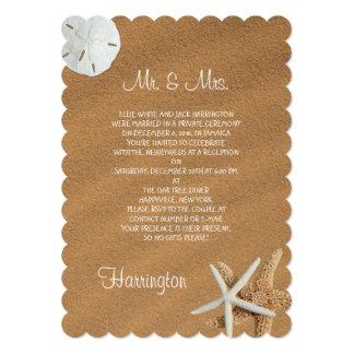 """Recepción del recién casado de los Seashells de la Invitación 5"""" X 7"""""""