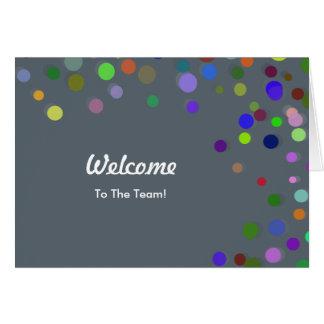 Recepción descendente colorida de los lunares de tarjeta de felicitación