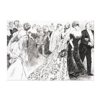 Recepción diplomática 1904 impresiones de lienzo