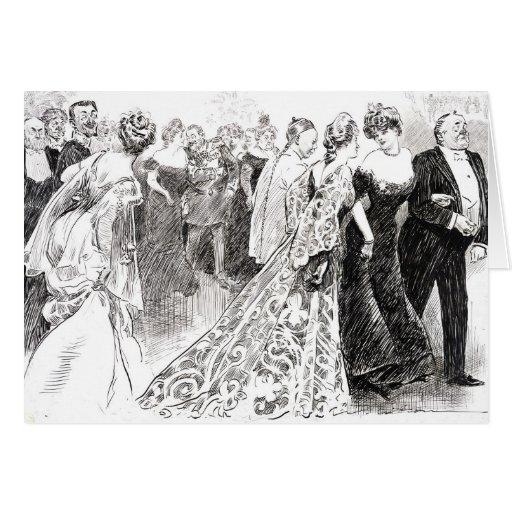 Recepción diplomática 1904 tarjeta de felicitación