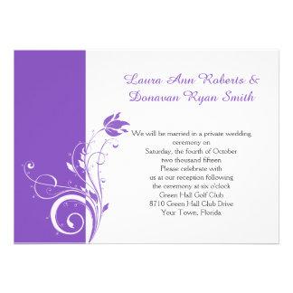 Recepción floral púrpura y blanca de los remolinos