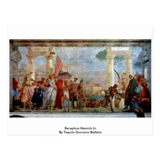 Recepción Henrich Iii de Tiepolo Juan Battista Postal