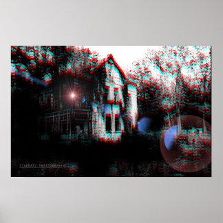 """""""Recepción impresión de 3D de la casa del horror"""" Poster"""