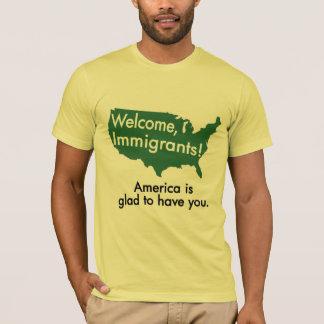 ¡Recepción, inmigrantes! Camiseta del mapa de los