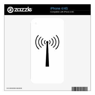Recepción móvil skins para eliPhone 4