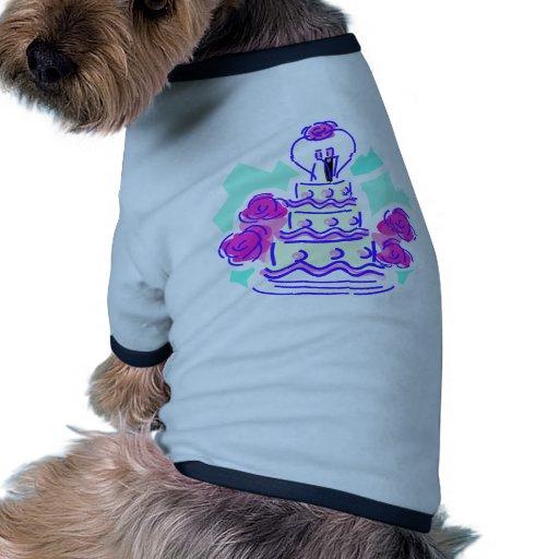 Recepción nupcial 42 camiseta con mangas para perro