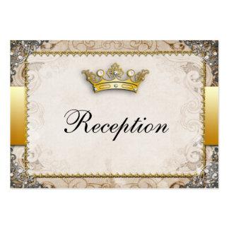 Recepción nupcial adornada del guión del cuento de tarjetas de negocios