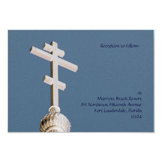 """Recepción nupcial bizantina de la iglesia invitación 3.5"""" x 5"""""""