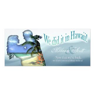 Recepción nupcial de Hawaii de los pares de la Invitación 10,1 X 23,5 Cm