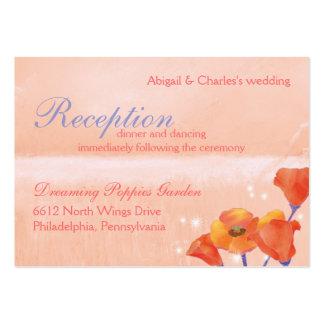 Recepción nupcial de la amapola de BridalHeaven Tarjetas De Visita Grandes