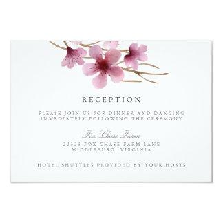 """Recepción nupcial de las flores de cerezo de la invitación 3.5"""" x 5"""""""