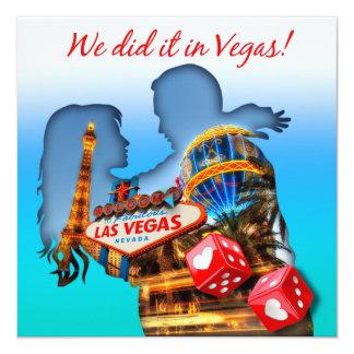 Recepción nupcial de los pares de Las Vegas Invitación 13,3 Cm X 13,3cm