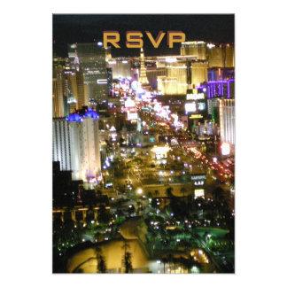 Recepción nupcial de RSVP Las Vegas Comunicado