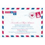 Recepción nupcial del poste del correo aéreo de invitación