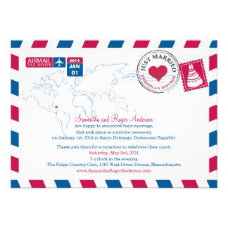 Recepción nupcial del poste del correo aéreo de la