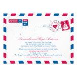 Recepción nupcial del poste del correo aéreo de On Invitación