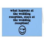 Recepción nupcial divertida felicitacion