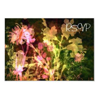 """Recepción nupcial floral brillante RSVP Invitación 3.5"""" X 5"""""""