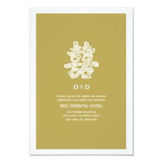Recepción nupcial floral de la felicidad doble anuncios personalizados