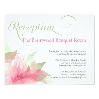 Recepción nupcial floral rosada y blanca del invitación 10,8 x 13,9 cm