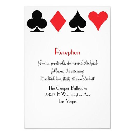 Recepción nupcial Info adicional de Las Vegas del Invitaciones Personales
