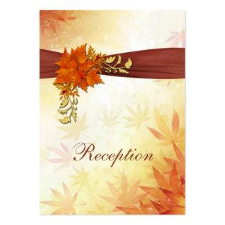Recepción nupcial otoñal de las hojas plantillas de tarjetas de visita