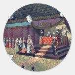 Recepción nupcial por Kasai, Torajirō Etiquetas Redondas