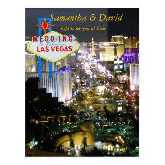 Recepción nupcial RSVP de Las Vegas Postal