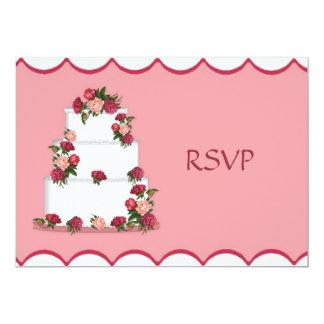 """Recepción nupcial RSVP del pastel de bodas Invitación 5"""" X 7"""""""